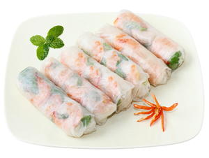 Soft Spring Rolls with Shrimp and Fresh Mint