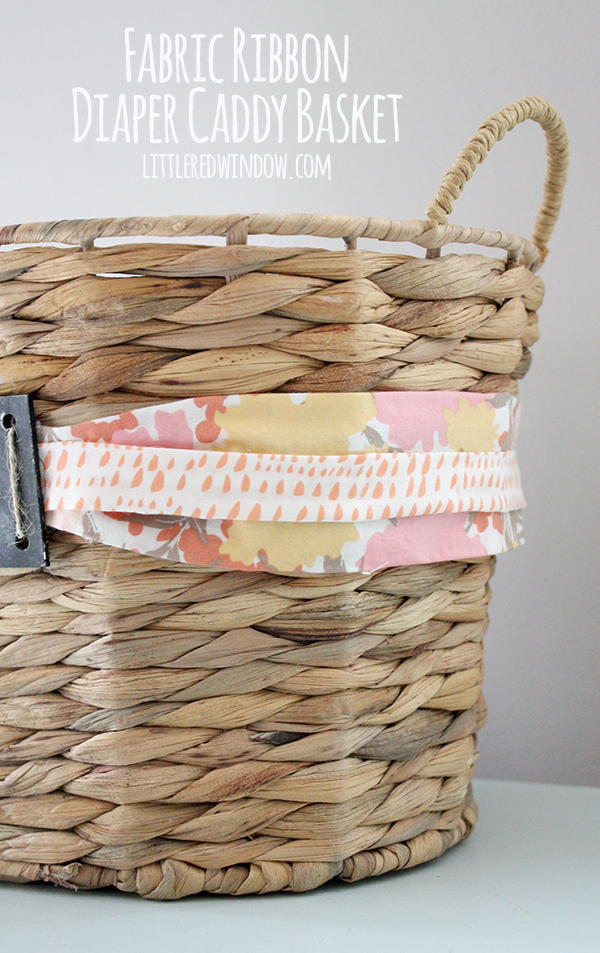 Diaper Caddy DIY Basket | FaveCrafts.com