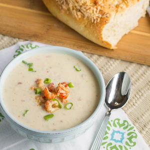 Crawfish and Cauliflower Soup