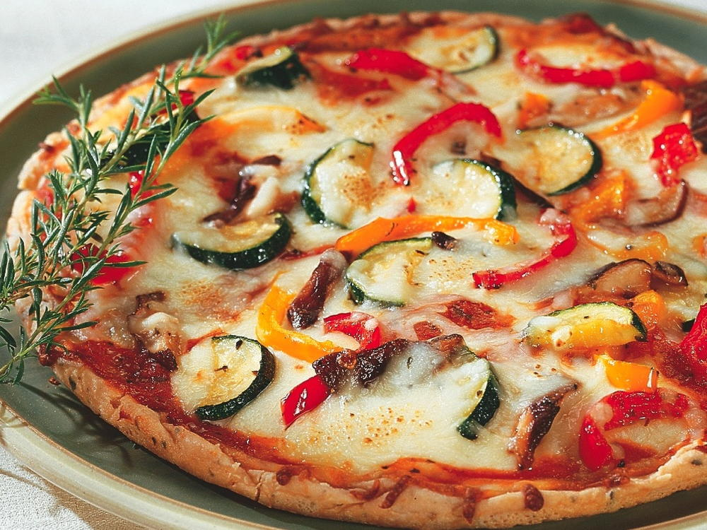 Roasted vegetable pizza topping cookstr forumfinder Images