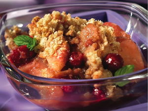 Cranberry Pear Brown Betty