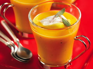 Butternut Squash Soup with Nutmeg Cream