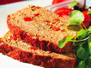 Peppery Meat Loaf with Couscous
