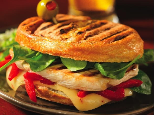 Grilled Chicken Spinach Red Pepper And Pepper Jack