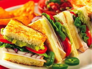 South of the Border Turkey Panini