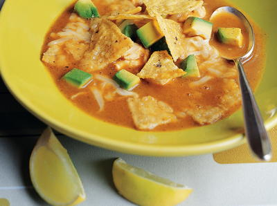 Classic Tortilla Soup with All the Trimmings