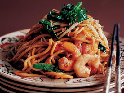 Stir fried chinese egg noodles with shrimp and asian greens stir fried chinese egg noodles with shrimp and asian greens cookstr forumfinder Gallery