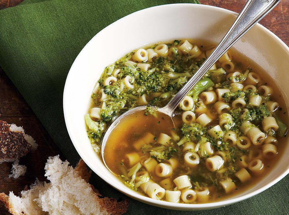 Broccoli Soup with Pasta   Cookstr.com