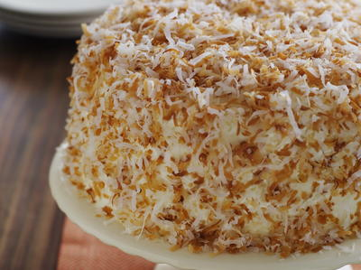 Toasted Coconut Cake with Lime Cream and Mount Gay Rum Cookstrcom