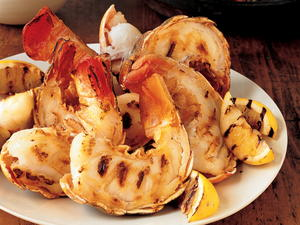 Grilled Rock Lobster Tails