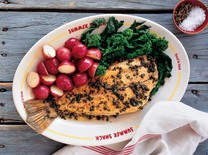 Pan-Roasted Whole Flounder or Fluke with Brown Butter, Lemon, and Capers