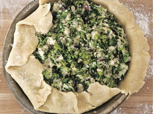 Rustic Potato and Greens Pie