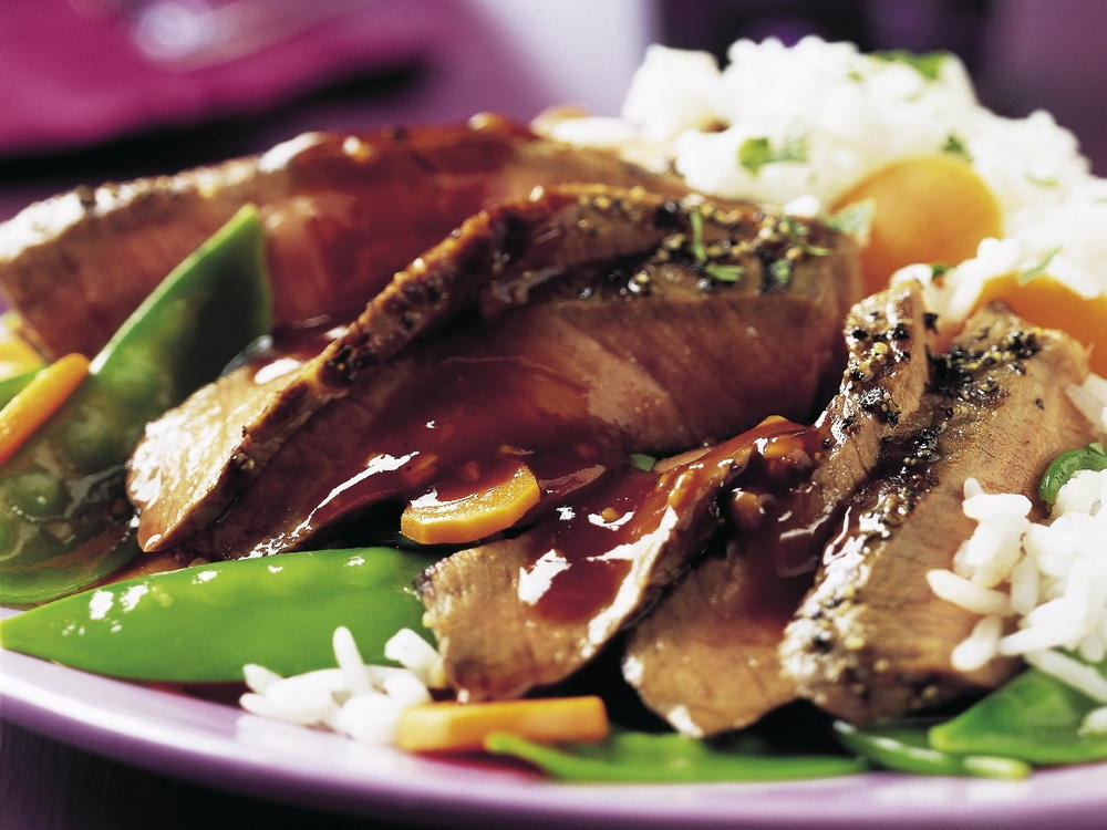 steak with ginger plum barbecue sauce  cookstr