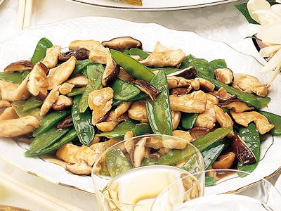 Chicken with shiitake mushrooms and snow peas cookstr my notes forumfinder Choice Image