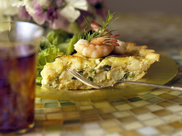 Shrimp and Spring Onion Quiche