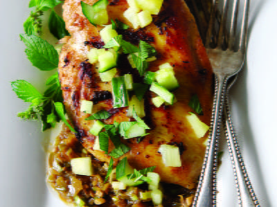 Jerk Chicken with Cool Pineapple Salsa