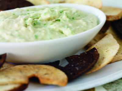 White Bean Dip with Garlic Scapes