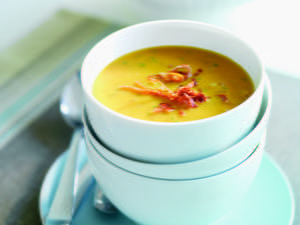 Parmigiano Pumpkin Soup with Frizzled Prosciutto