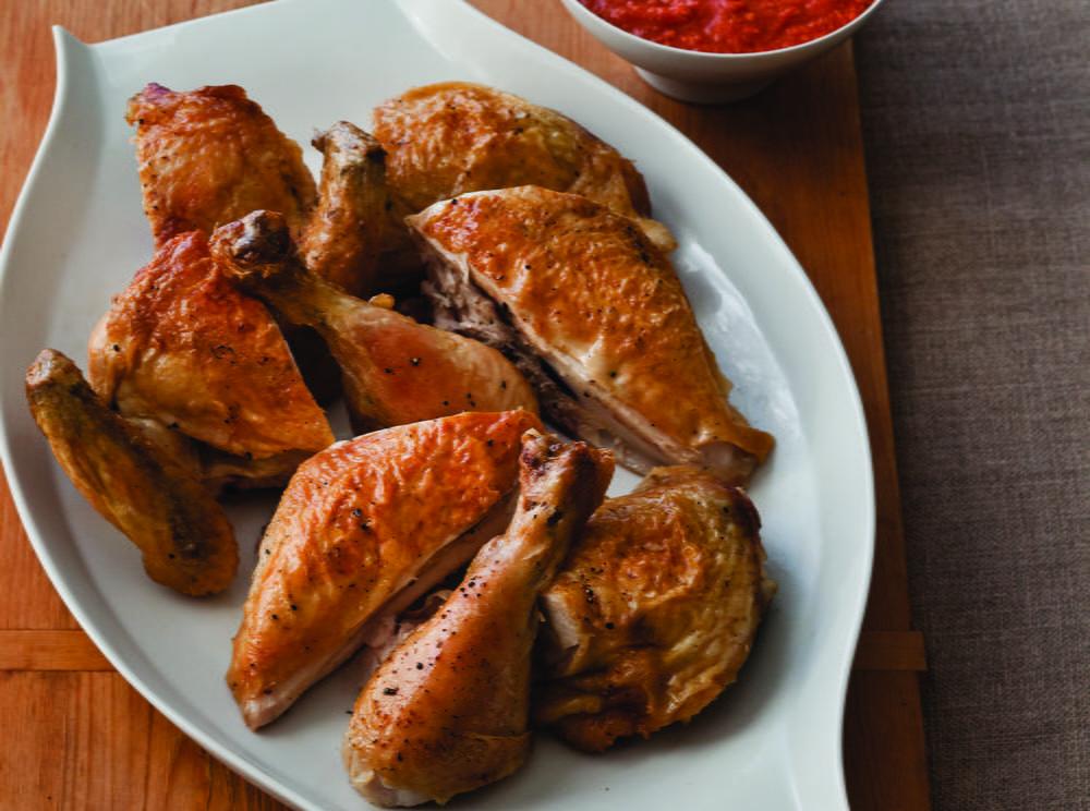 Crispy Butterflied Roast Chicken Cookstr Com