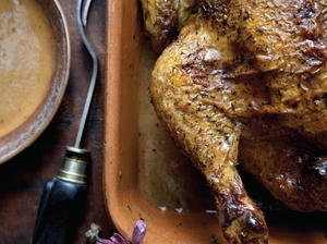 Roast Chicken with Herbs and Pan Gravy