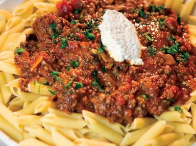 Lamb Bolognese with Fresh Ricotta