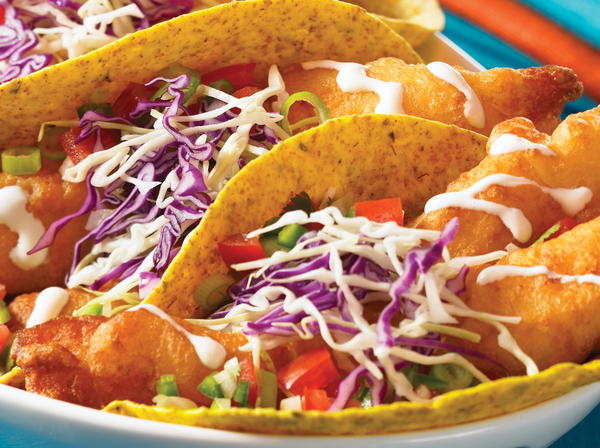 Fresh Baja Fish Tacos with Mexican White Sauce