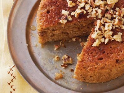Cider-Glazed Apple-Walnut Cake