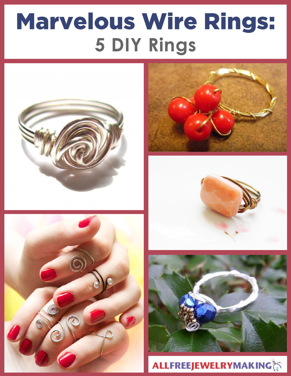 Marvelous Wire Rings: 5 DIY Rings | AllFreeJewelryMaking.com