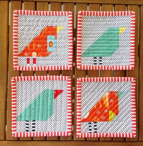 Little Bird Quilt Pattern | FaveQuilts.com : bird quilt pattern - Adamdwight.com