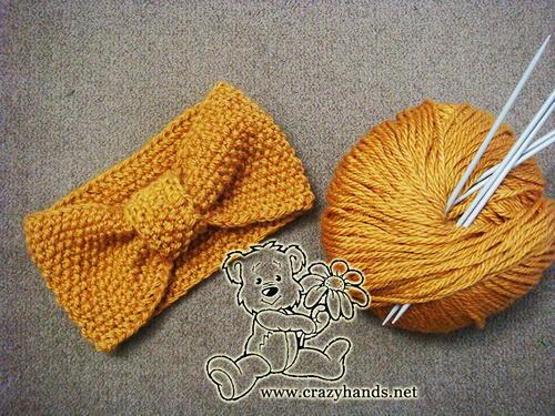 Seed Stitch Knitted Headband Allfreeknitting