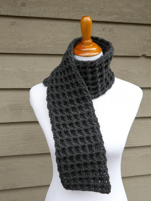 Waffle Stitch Crochet Charity Scarf Allfreecrochet