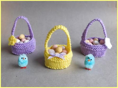 Sweet little easter baskets allfreeknitting sweet little easter baskets negle Choice Image