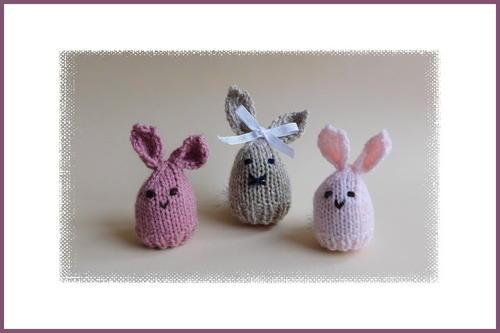 Easter Bunny Egg Cosy Allfreeknitting