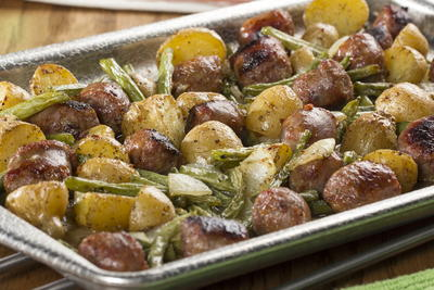 Sausage Sheet Pan Supper