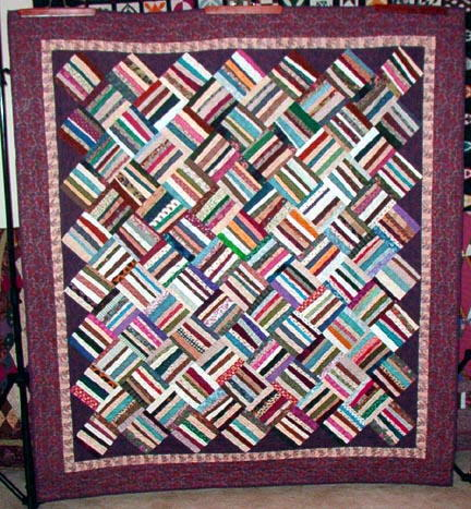 Basket Weave Quilt Pattern FaveQuilts Simple Basket Weave Quilt Pattern