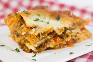 Barbeque Beef Lasagna