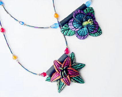How to use polymer clay favecrafts glitter flower pendants mozeypictures Image collections