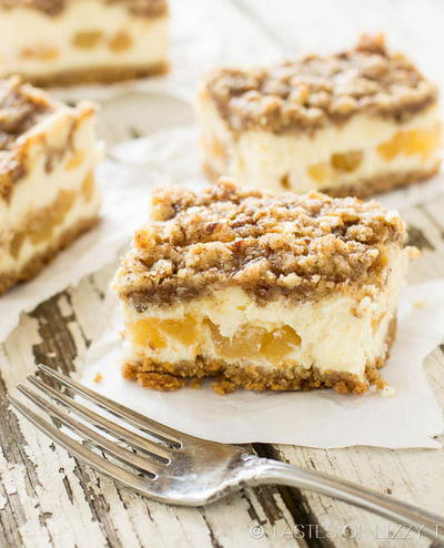 Just Like Cheesecake Factory Caramel Apple Cheesecake Bars