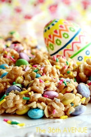 Bunny Food Rice Crispy Treats