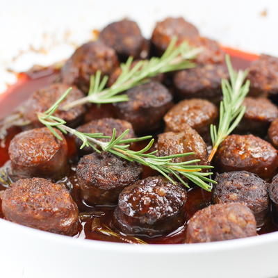 Spicy Chorizo in Red Wine with Rosemary