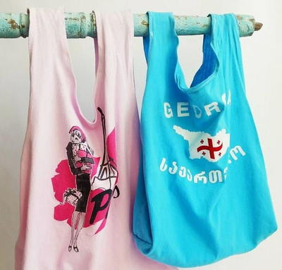 Upcycled T-Shirt Tote Bags