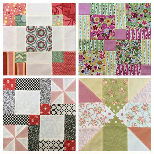 Disappearing 9 Patch Blocks 4 Variations Video Tutorials