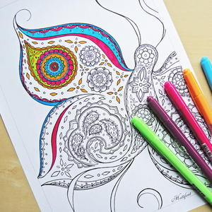 Butterfly Printable Coloring Page This Intricate Design Is Perfect For The Naturalist In You