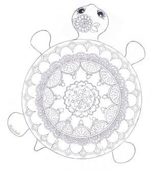 Mandala Turtle Coloring Page Arent Turtles Just Precious Print This And Get To Green Creature