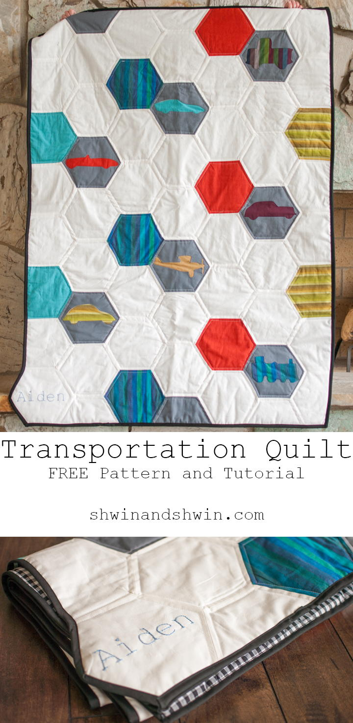 Transportation Hexagon Pattern Quilt Favequilts Com