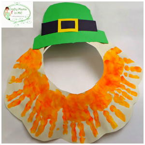 Fun and Easy Paper Plate Leprechaun Mask