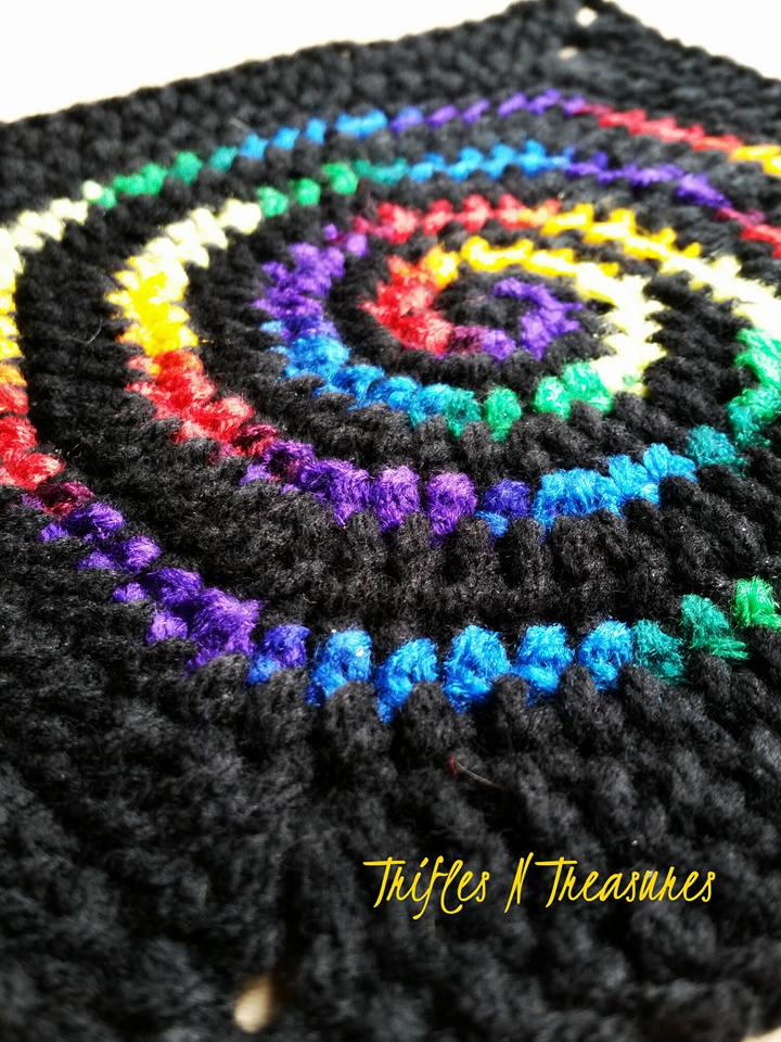 Stained Glass Spiral Crochet Granny Square Allfreecrochet