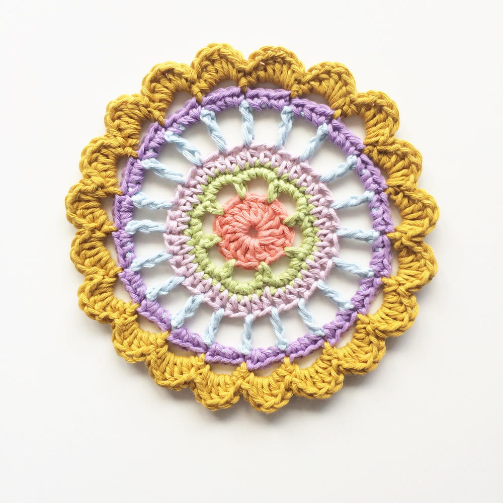 Pretty Polly Mandala | AllFreeCrochet.com