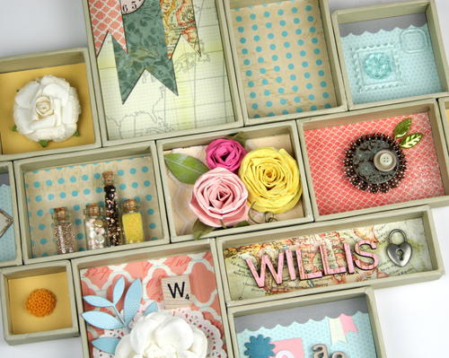 Mini Canvases Family Shadow Box