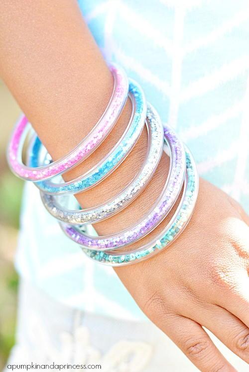 Girly Diy Acrylic Nail Designs: Girly Glitter DIY Bracelets